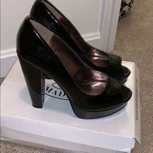 Black patent leather Steve Madden heels